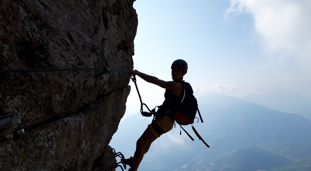 Climbing and vie ferrate